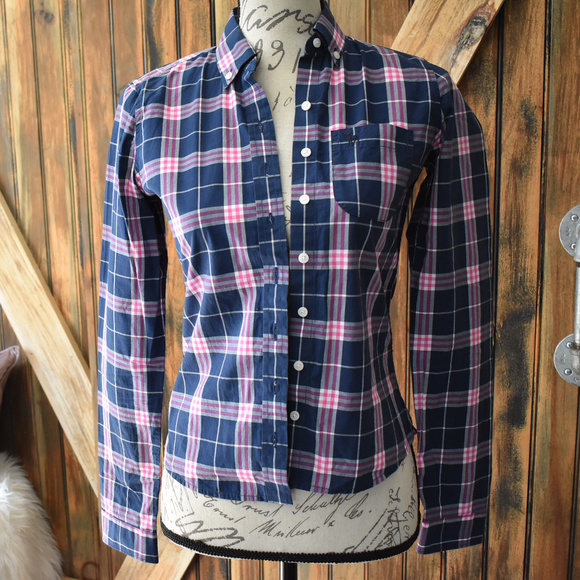 67142576 Abercrombie & Fitch Tops | Womens Abercrombie Fitch Plaid Shirt Top ...